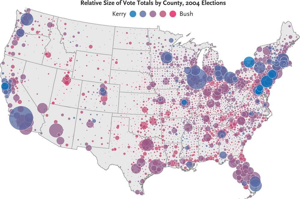 Us Map Counties Election Globalinterco - Us map population vote